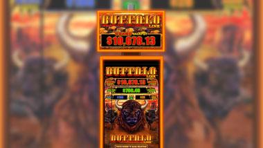 A Buffalo Link slot machine.