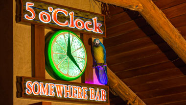 5 O'Clock Somewhere Sign