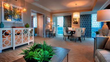 Margaritaville Resort Casino Luxury hotel suite dining area