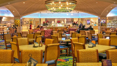 dining area of Margaritaville Bossier City's buffet