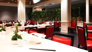 Dining area of Bamboo Asian Cafe