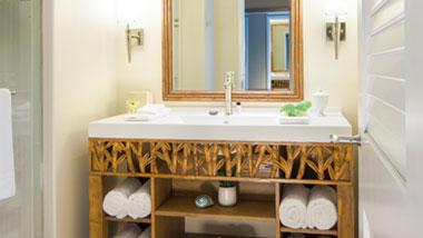 Margaritaville Resort Casino Premium Hotel Room bathroom vanity
