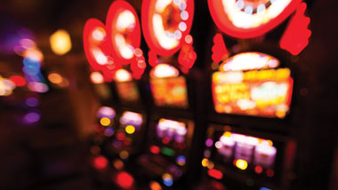 blurred slot machines