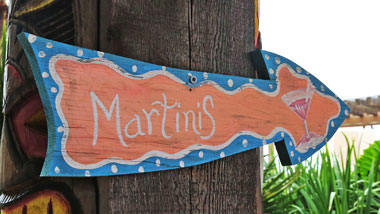 Martinis sign at Margaritaville Resort Casino