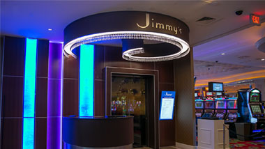 entrance to Jimmys Steak & Seafood